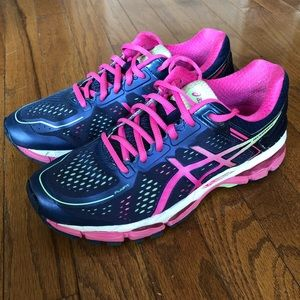 ASICS Kayano 22 navy blue / pink